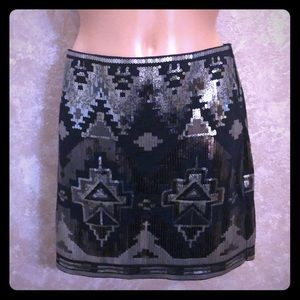 Express sequins design mini skirt
